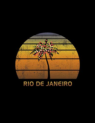 Rio De Janeiro: Christmas Journal Notebook With Retro Sunset. Complete Shopping Organizer Holiday Food Meal Party Planner Budget Expense Tracker With Soft Cover 8.5 x 11, 120 Pages.