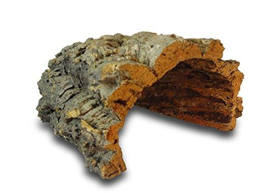 Korktunnel | Korkhöhle (Halbbogen) unten offen, 30 cm, Innenhöhe ≥ 12 cm | gereinigt & desinfiziert | Naturkorkrinde als Unterschlupf für Nagetiere, Reptilien, Vögel 100% Korkrinde, natürlicher, nachwachsender Rohstoff