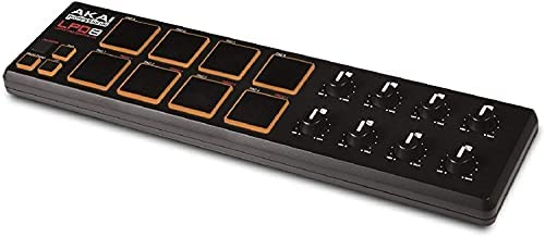 AKAI Professional LPD8 - USB MIDI Controller with 8 Velocity-Sensitive Drum Pads for Laptops (Mac & PC), Editing Software included