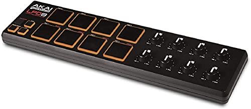 AKAI Professional LPD8 – Controlador USB MIDI com 8 baterias sensíveis à velocidade para laptops (Mac e PC), software de edição incluído