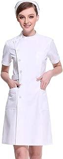 Women's Slanting Button Front Nurse Scrub Lab Dress