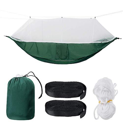 Camping hamaca 2 persona hamaca con redes Mosquito lavable Látiles Ligero Switch Cama para dormir Camping Camping Senderismo Viaje Max Cargar 300kg Hamacas portátiles Ligeras Portátiles / D silla colg