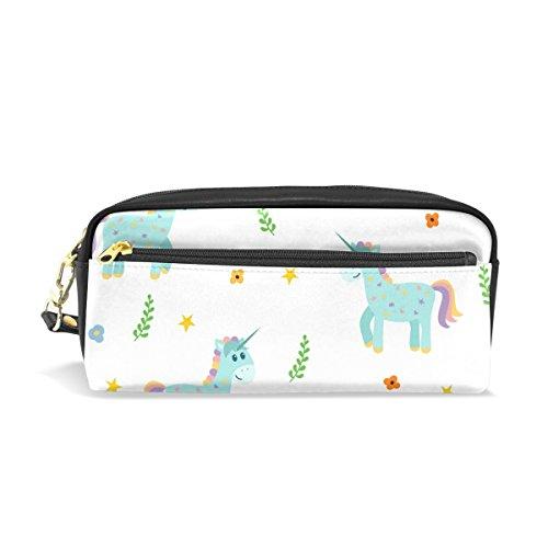 Bennigiry Cute licornes Grande contenance Trousse, enfants Enfants étudiants Stylo Sac étui sac pour voyage école Petit sac Cosmétique