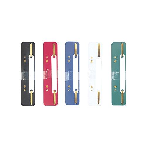 Herlitz 9977604 Heftstreifen aus PP 3,4 x 15 cm, 25 Stück farbig sortiert