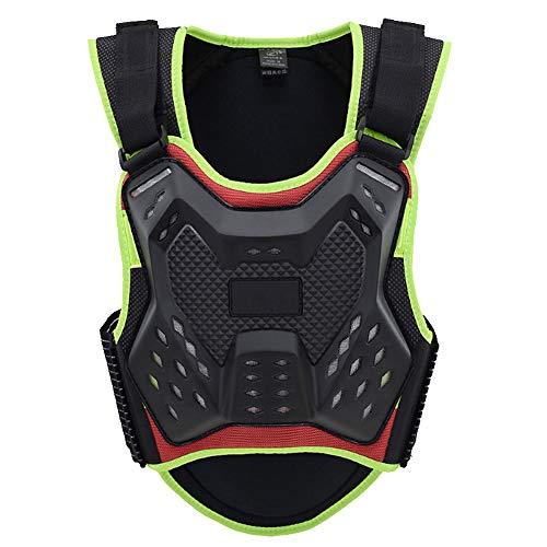 TZTED Wirbelsäule Brustpanzer Schutzausrüstung Radfahren Motorrad ATV Rückenprotektoren Schutzweste Scooter MTB Enduro für Reiten Skating Roller Skifahren Snowboard,Grün,L