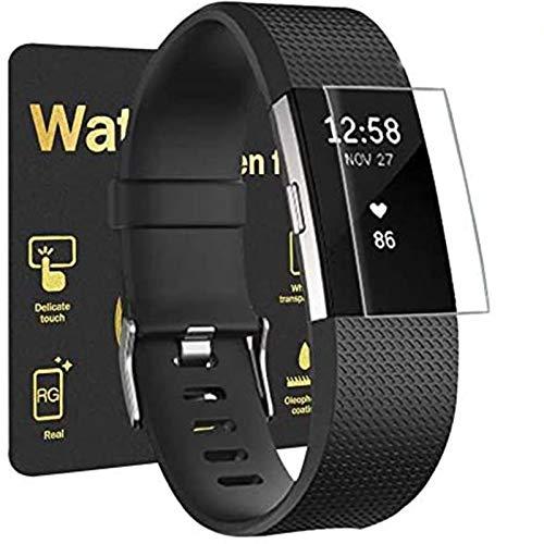 Aottom [6 Stück] Schutzfolie für Fitbit Charge 2 Folie, Fitbit Charge 2 Bildschirmschutz Folie Fitbit Charge2 Screen Protector Full Schutz für Fitbit Charge 2