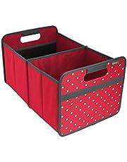 Meori L Caja Plegable con Puntos, 30 l, Acrílico, Hibiscus Red spoted, 50x32x27.5 cm