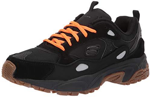 Skechers Men's Stamina-CONTIC Trainers, Black (Black Leather/Pu/Mesh/Trim BBK), 7 (41 EU)