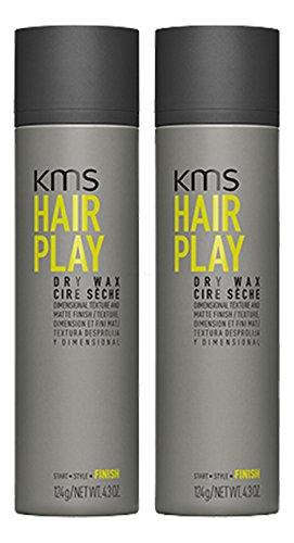 KMS California HAIRPLAY Dry Wax Voc >55% 150ml x2 = 300ml - NEU
