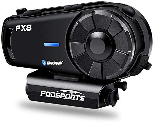 FODSPORTSバイクインカムFX8改良版 Bluetooth4.1FMラジオ ユニバーサル機能 高音質AUX機能 IPX6防水連続通話20時間 最大8人同時通話可能 無線機いんかむ マイク(2種類付属)日本語取扱説明書付 技適マーク取得済み