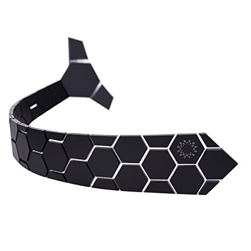 Hexagonal Matte Black Tech Tie