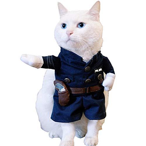 Disfraz de Policía Ropa Traje Uniforme para Mascotas