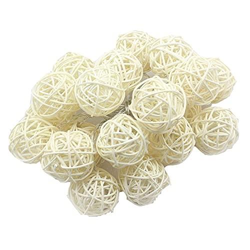 Linterna String Sepak Takraw String LED LED Home Garden Decoration Light Wedding Shop Decoration (Size : 3cm White 5m 40lamp)