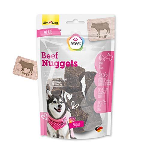 GimDog SENSES Nuggets - Getreidefreier Hundesnack mit hohem Fleischanteil und ohne Zuckerzusatz - 1 Beutel (1 x 100 g)