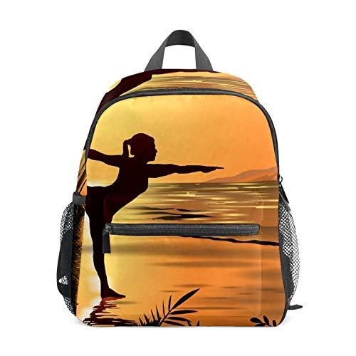 Mochila estudiantil bolsa para niños y niñas, para yoga de la Playa, mochila informal para la escuela, bolsa de viaje organizadora, regalo