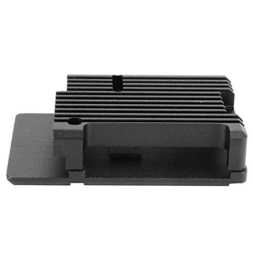 4th Generation Durable CNC Aluminum Alloy Cooling Box Case Metal Shell Protective Box Strong and Durable Built‑in Heat Column Enclosure Compatible with Pi 4