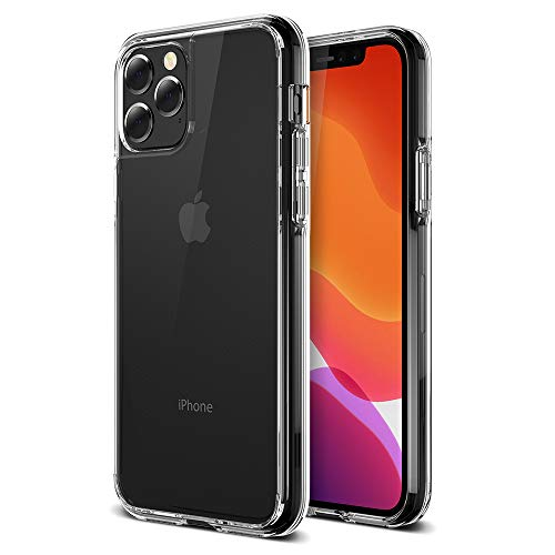 Trianium Clarium Series Designed for Apple iPhone 11 Pro Max (2019 6.5 Inch) TPU Cushion Clear Frame iPhone 11 Pro Max Case Protection and Hybrid Rigid Backing Cover - Clear