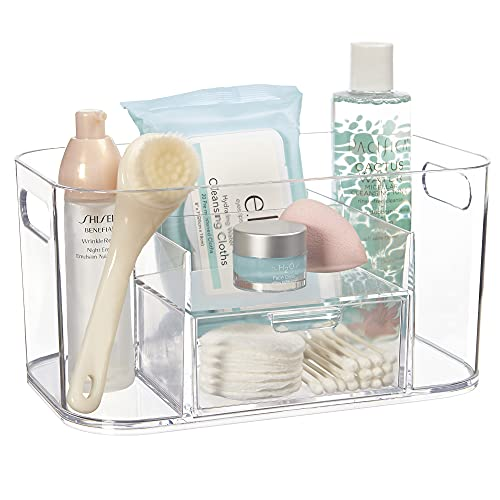 STORi Bliss Skincare Organizer Plastic with Drawer | Clear