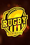 Rugby Playbook: Practical Rugby Game Coach Play Book | Coaching Notebook with Blank Field Diagrams for Drawing Up Plays, Drills, Planning Tactics & Strategy | Gift for Coaches & Team Players