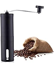 KEATY Manual Coffee Grinder, Coffee Maker for Fresh Coffee, Hand Bean Mill, Stainless Steel,Perfect for Home,Office or Travelling