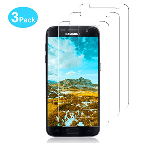 YIEASY 3 Stück Panzerglas Schutzfolie für Samsung Galaxy S7 9H Härtegrad, Ultra Transparenz Schutzfolie, Anti-Kratzen, Anti-Öl, Anti-Bläschen, Anti-Fingerabdruck Panzerglasfolie für Samsung Galaxy S7
