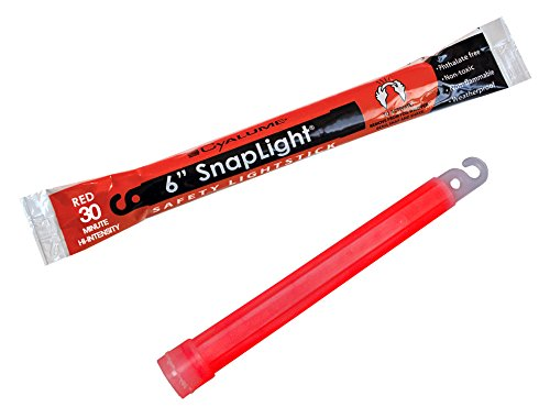 "SnapLight Premium Light Sticks, Red High-Intensity, 6"" Long, 30-Minute Duration, 10-Pack"