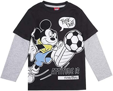 Niños Mickey Mouse Camiseta, Negro
