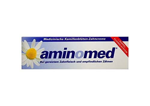 75ml Aminomed bei gereiztem Zahnfleisch & empfindlichen Zähnen Kamillenblüten