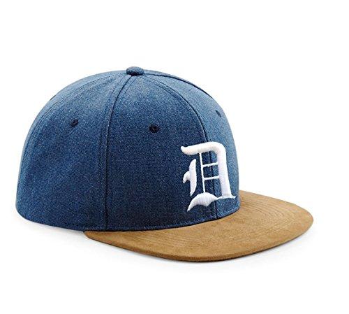 Morefaz Snapback Cap Toit en suède Casquette de Baseball Bonnet Chapeau Snap Back 3D Gothique A-Z (D)