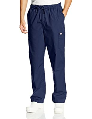 Cherokee Men's Big and Tall Originals Cargo Scrubs Pant, Navy, XXX-Large