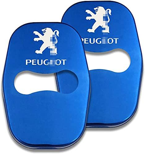 4 Uds Cubierta Cerradura Puerta Coche, para Peugeot GT 307 206 308 407 207 3008 208 4008 5008, Cubierta de Cerradura de Puerta Anticorrosión Protección Interior Accesorios