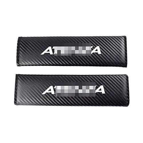 Para Mazda Atenza, almohadilla para cinturón de seguridad de coche, almohadilla para cubierta de hombro para cinturón de seguridad de fibra de carbono, accesorios para coche Interior 2 unids / set