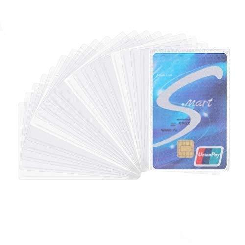 Kaitein カードケース 透明 防水 磁気防止 カード 保護ケース 横入れ 縦入れ 薄型 まとめ買い 100枚 セット