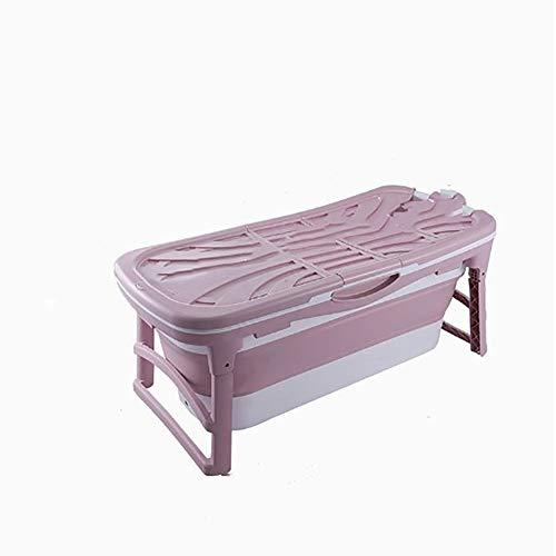 Veiligheidsbadkuip Opvouwbare badkuip voor baby voor TPE-materiaal Volwassenen Babybadje Draagbaar verbreed verdikt Slijtvast en duurzaam Douche Zwembad Baden Emmer,Pink,A