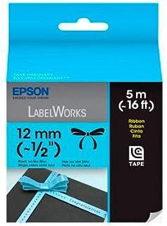Fita Rotulador Epson LC-4LBK5 12mm Tecido Acetinado Preto/Azul
