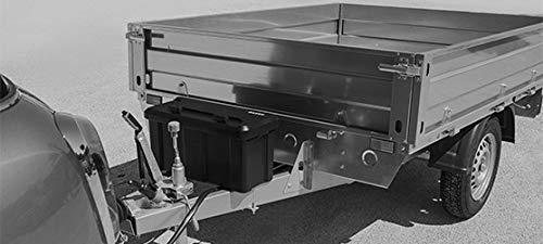 DAKEN Deichselbox Blackit 2-550x250x295mm Anhängerbox Werkzeugkasten Anhänger Staukiste Werkzeugkiste Box 23L - 4