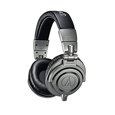 Audio Technica ATH-M50XGM Professional Monitor Headphones, Metal, incl. hard case for headphones by audio-technica