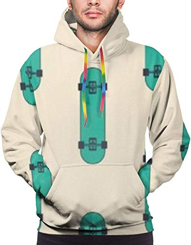 XIUZHIZH Men's Novelty Casual Hoodies Pullover Hooded Sweatshirt with Pocket XXL