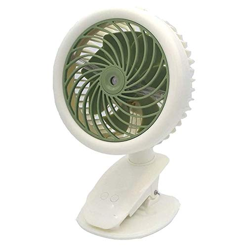 DAI QI Clip de batería en el ventilador, Auto Oscilación del ventilador de la bruma de agua, ventiladores de la batería recargable del cochecito, ventiladores de mesa portátiles for climas calurosos d