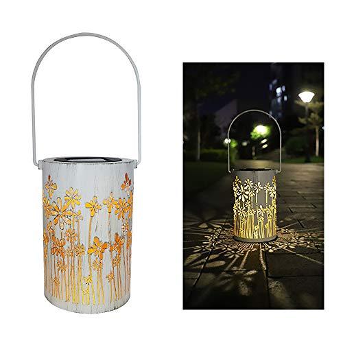 Lixada Lantaarnlicht op zonne-energie, retro tafel, leds, kaarslamp, IP44, waterdicht, lantaarnhanglampen voor patio tuin