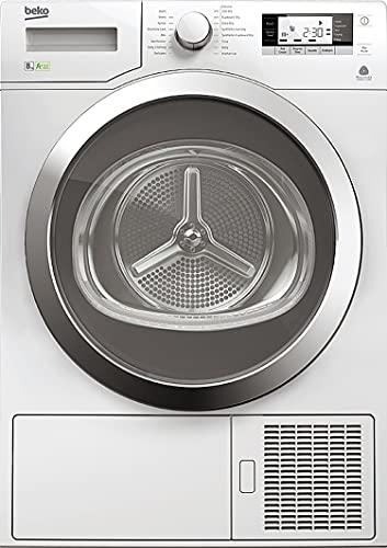 Beko Asciugatrice DPY8506GXB1, A+++, 16 programmi, motore inverter, pompa di calore, programma LANA, OBLO' REVERSIBILE