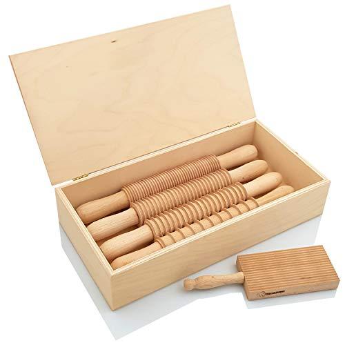PRIMOLEGNO Box Italy Kit Nudelschneider für Spaghetti Fettuccine Tagliatelle Pappardelle und Rigagnocchi