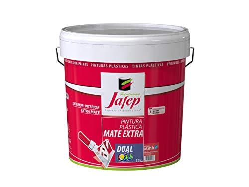JAFEP Pintura Plastica Mate Extra Dual con conservante Antimoho 4 L
