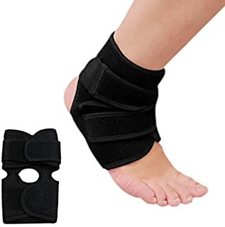 DealMux Unisex Black Adjustable Ankle Support Foot Orthosis Brace Guard Strap Stabilizer