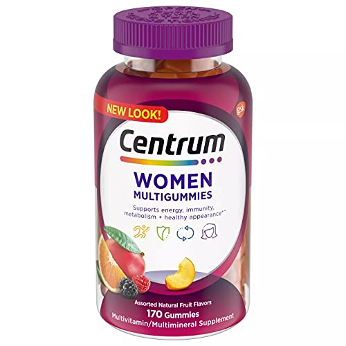 Centrum Multigummies Gummy Multivitamin for Women, Fruit, 170 Count