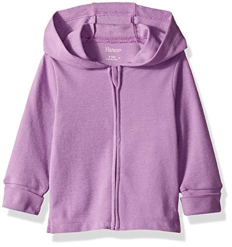 Hanes Ultimate Baby Zippin Knit Hoodie, Purple, 12-18 Months
