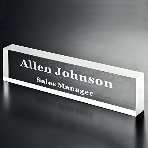Custom Personalized Engraved Acrylic Name Plate Office Desk Bar 3/4-Inch