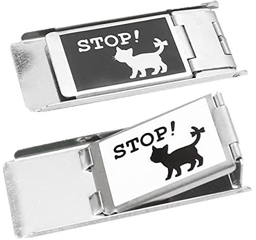 網戸ロック 2個セット にゃんにゃんストッパー 猫 脱走 防止 補助錠 Mix