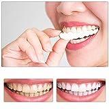 2 Pares Nuevo Snap On Instant Smile Sonrisa Perfecta Ajuste de Ajuste Flex Se Adapta a la Mayoría de los Dientes Falsos Cómodos Parte Superior del Diente Falso
