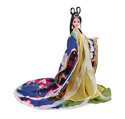 Black Temptation Princesa / Diosa de Juguete Chino Antiguo Traje Personas muñecas niñas Dressup-L